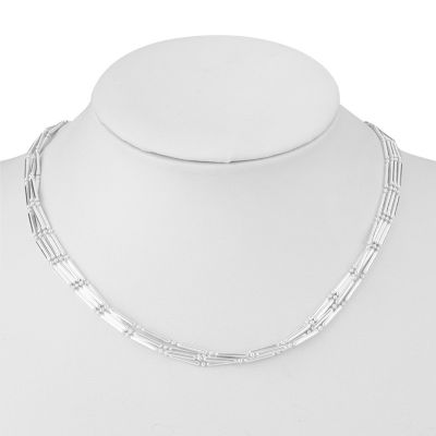 Liz Claiborne® Silvertone 4 Row Chain Necklace