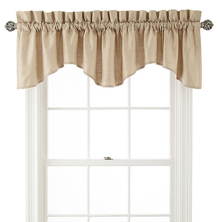 JCPenney Home Supreme Rod-Pocket Scallop Valance, One Size , Beige