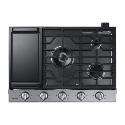 "Samsung 30"" Gas Cooktop with 19K BTU Dual Power Burner"