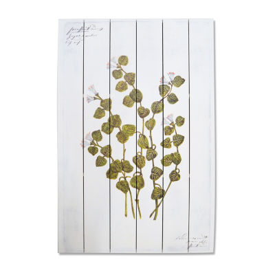 New View Artistic Botanical 2 Wood Box Plank Canvas Art