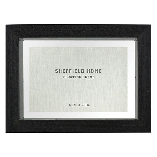 Sheffield Home 7x5 Black Glass Float Frame 1-Opening Tabletop Frame