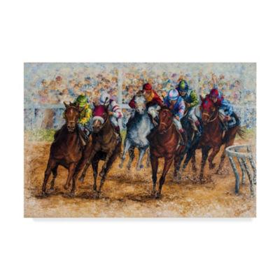 Trademark Fine Art Sher Sester The Derby Giclee Canvas Art