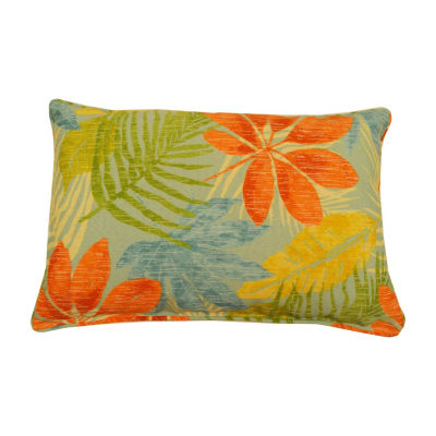 Whistling Leaves Oblong Corded Outdoor Pillow
