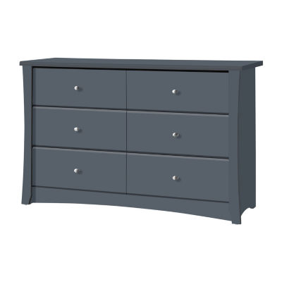 Storkcraft Crescent 6-Drawer Chest - Gray