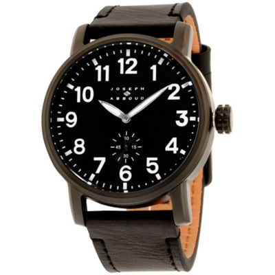 Joseph Abboud Mens Black Strap Watch-Ja3211bk648-362