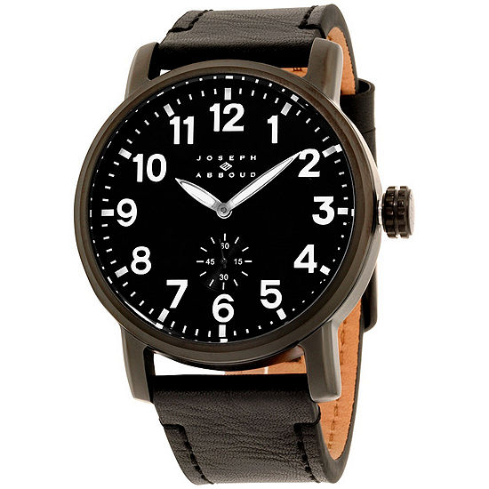 Joseph Abboud Mens Black Strap Watch Ja3211bk648 362