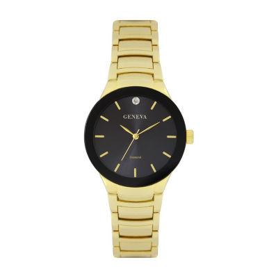 Geneva Mens Gold Tone Bracelet Watch-Jry8087gdbk
