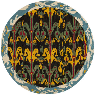 Safavieh Ikat Collection Corynn Floral Round AreaRug