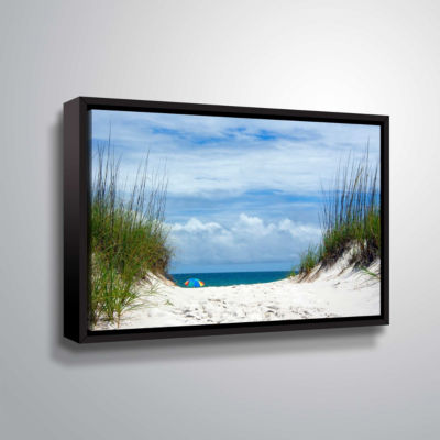 Brushstone Ocean Path Gallery Wrapped Floater-Framed Canvas Wall Art