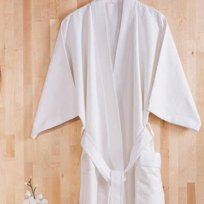 Sobel Westex Long Sleeve Diamond Jacquard S/M Robe 12-pk.