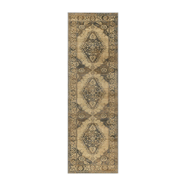 Tayse Fiona Transitional Border Runner Rug