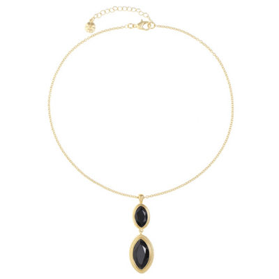Monet Jewelry Womens Black Pendant Necklace