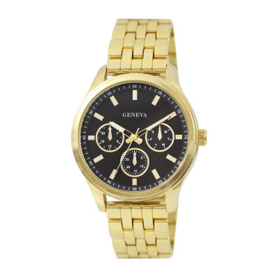 Geneva Mens Gold Tone Bracelet Watch-Jry8130gd