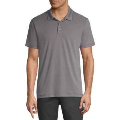 Axist Short Sleeve Jacquard Woven Polo Shirt