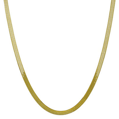 16 Inch Solid Herringbone Chain Necklace
