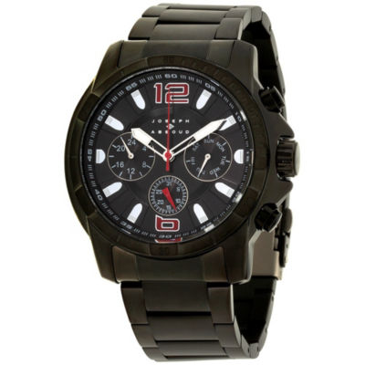 Joseph Abboud Mens Black Strap Watch-Ja3212bk648-003