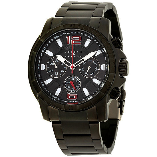 Joseph Abboud Mens Black Strap Watch-Ja3212bk648-003