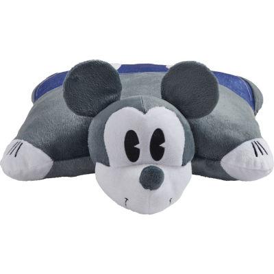 "Disney Denim Mickey Mouse 16"" Plush Pillow Pet"