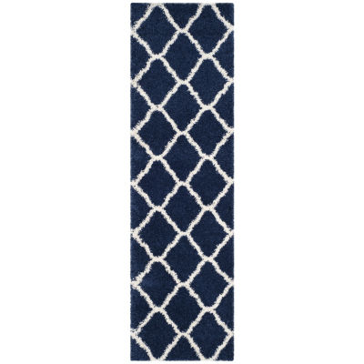 Safavieh Hudson Shag Collection Weldon Geometric Runner Rug