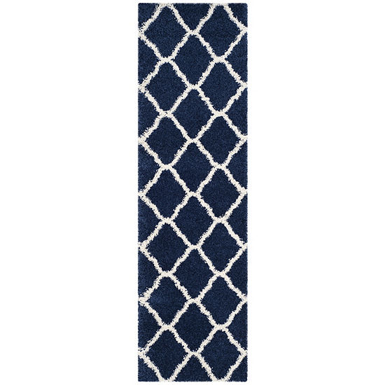Safavieh Hudson Shag Collection Weldon Geometric Runner Rug
