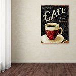 Trademark Fine Art Lisa Audit Today's Coffee I Giclee Canvas Art