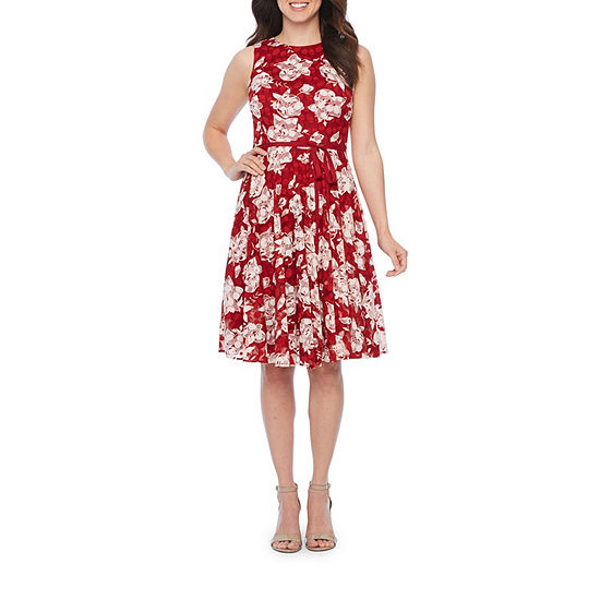 Danny Nicole Sleeveless Lace Floral Fit Flare Dress