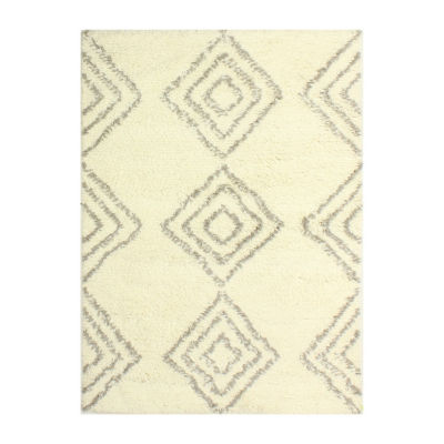 Kasbah 100% Wool Hand Knotted Area Rug