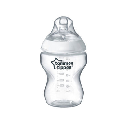 Tommee Tippee Closer to Nature Baby Bottle - Clear 9oz