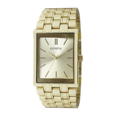 Geneva Mens Rose Goldtone Bracelet Watch-Jry8153gd