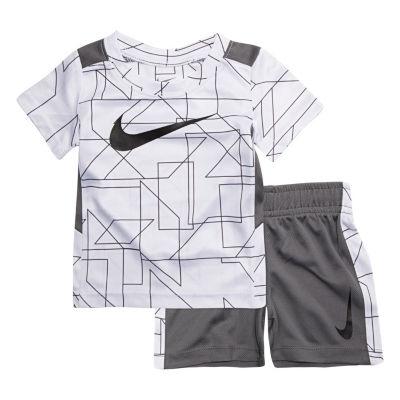 Nike 2-pc.Swoosh Tee Short Set- Baby Boys