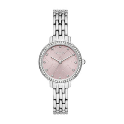 Relic Womens Silver Tone Bracelet Watch-Zr34520