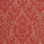 Safavieh Courtyard Collection Louise Damask Indoor/Outdoor Runner Rug