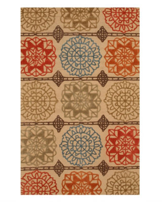 Hand-Tufted Wool Transitional Geometric Matrix Rug