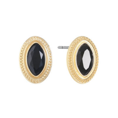 Monet Jewelry Black 19.8mm Stud Earrings