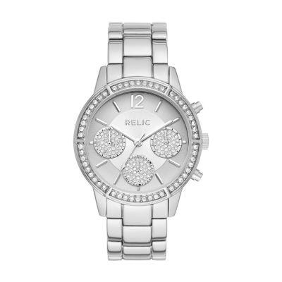 Relic Womens Silver Tone Bracelet Watch-Zr15948