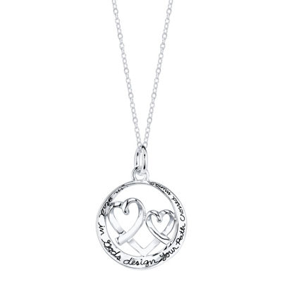 Footnotes Womens Round Pendant Necklace