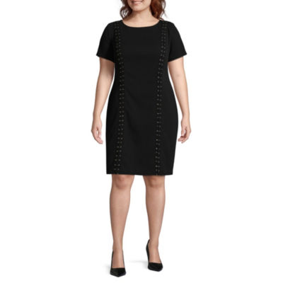 Alyx Lace-Up Detail Sheath Dress - Plus