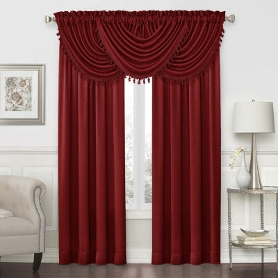 JCPenney Home Hilton Rod-Pocket Waterfall Valance