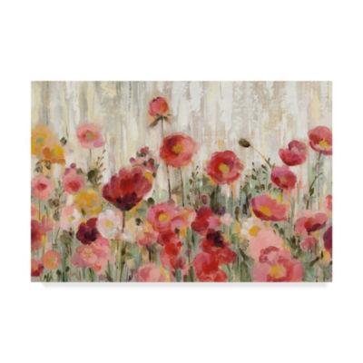 Trademark Fine Art Silvia Vassileva Sprinkled Flowers Crop Giclee Canvas Art