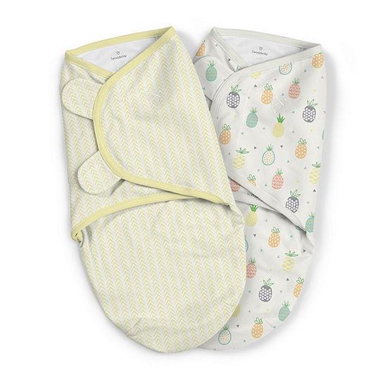 SwaddleMe 2-pk. Organic Blanket - Pineapples