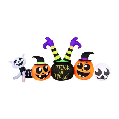 8 Foot Witch Cauldron with Legs Halloween Outdoor Inflatable