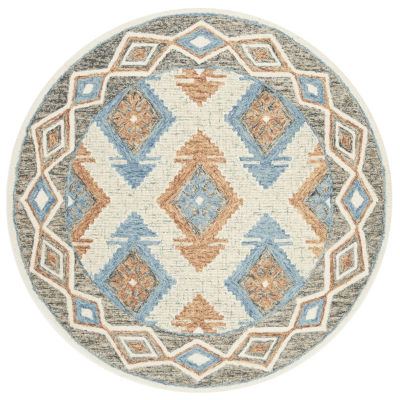 Safavieh Micro-Loop Collection Romeo Geometric Round Area Rug