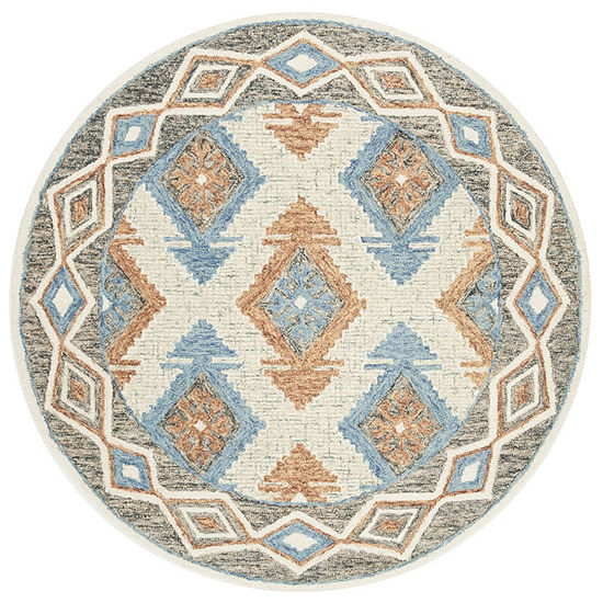Safavieh Micro Loop Collection Romeo Geometric Round Area Rug
