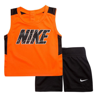Nike 2-pc. Muscle Tee Short Set- Baby Boys