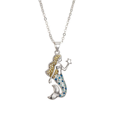 Sparkle Allure 6227 Crystal Kingdom Critter Set Aug 2017 Womens Multi Color Silver Over Brass Pendant Necklace