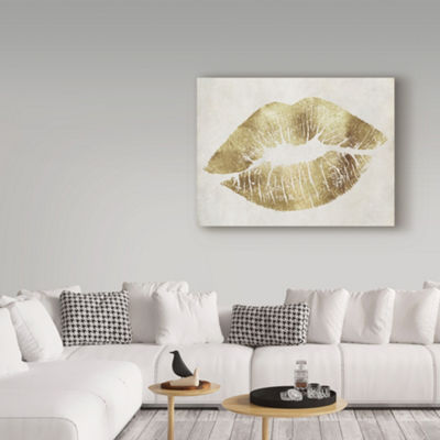 Trademark Fine Art Color Bakery Hollywood Kiss Gold Giclee Canvas Art
