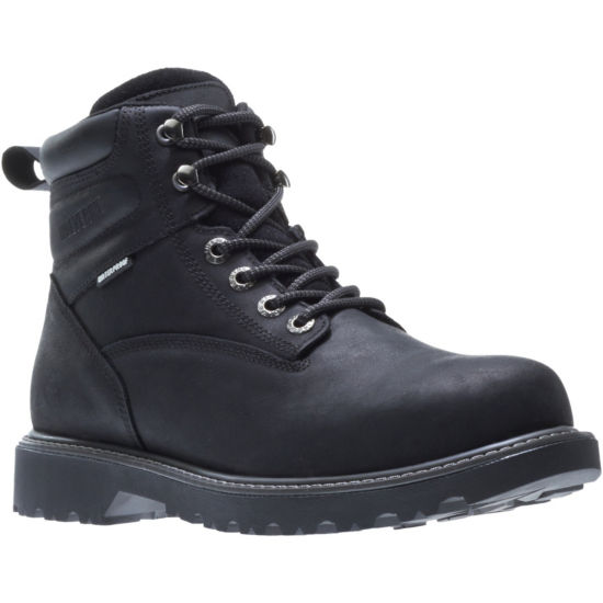 Wolverine Mens Floorhand Work Boots Waterproof Water Resistant Slip Resistant Lace-up