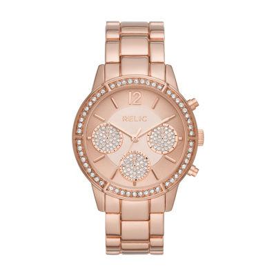 Relic Womens Rose Goldtone Bracelet Watch-Zr15950