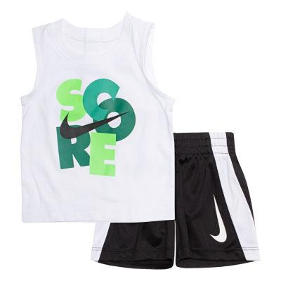 Nike 2-pc. Score Muscle Tee Short Set- Baby Boys