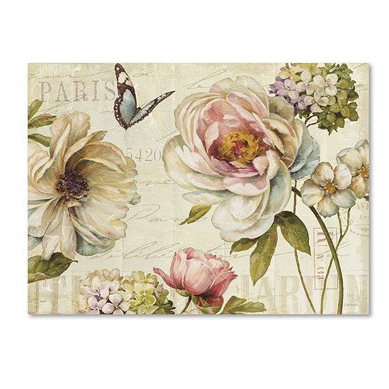 Trademark Fine Art Lisa Audit Marche de Fleurs IVGiclee Canvas Art